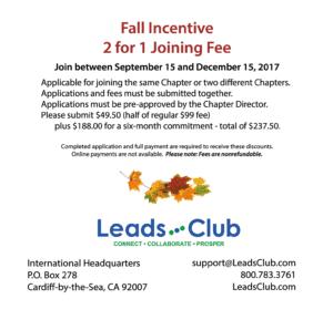 Leads Club Fall Incentive – Leads Club